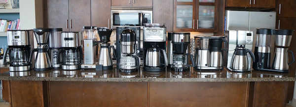 Coffee makers included in our test.