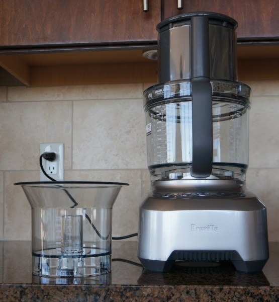 The Breville has two works bowls and a high liquid capacity.