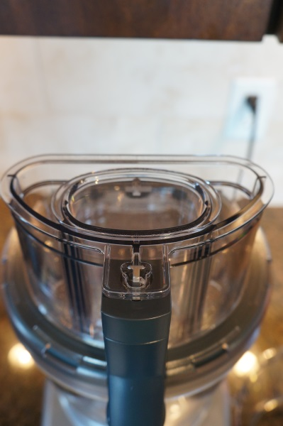 The impressive feeder tube system on the Cuisinart Elite 2.0.