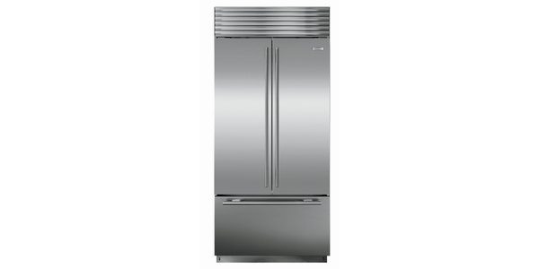 French Door Refrigerators are designed with the freezer below the fresh food compartment, but they have side-by-side doors