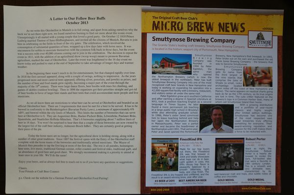 Two different style newsletters. We prefer the one on the right from the Original Craft Beer Club.