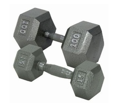CAP Barbell Hexagon Solid Gray Dumbbells