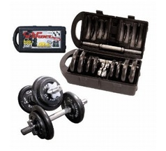 CAP Barbell 40-Pound Set with Dumbbells in Plastic Case