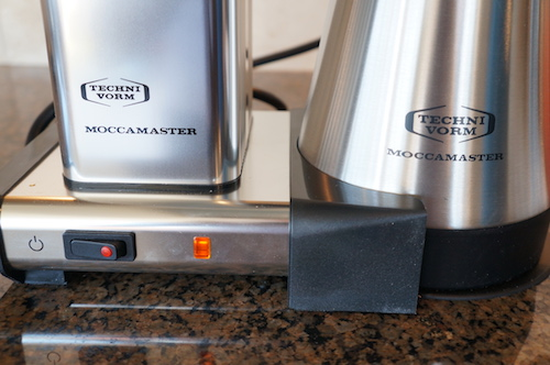 The Moccamaster KBGT 741 features manual, one touch operation.