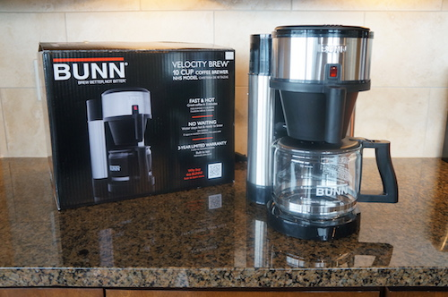 The BUNN Velocity Brew NHS offers on-demand hot water and can quickly brew successive pots of coffee.