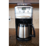 This compact unit features a built-in grinder and bean hopper that sets it apart from the other coffee makers.