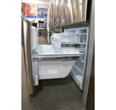 The pull-out freezer drawer is easy to open.