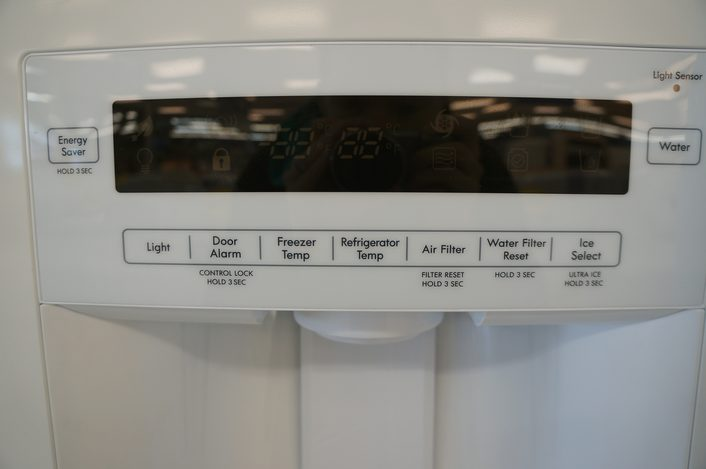 You can control temperatures in the fridge and freezer from the external water/ice dispenser.