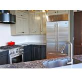 A kitchen featuring Sub-Zero BI-36UFD French Door Refrigerator.
