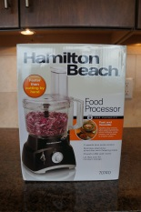 Unpacking the Hamilton Beach 8 Cup food processor.