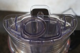 The 3-in-1 feeder tube system on the KitchenAid.